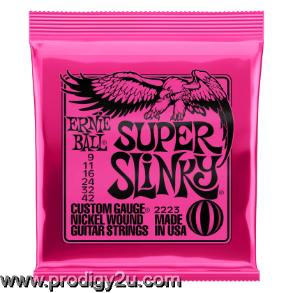 Ernie Ball 2223 Super Slinky Nickel Wound Electric Guitar String Set 9-42
