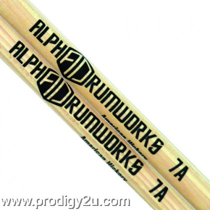 ALPHA DRUMWORKS AD-DS-7A AMERICAN HICKORY DRUMSTICK PAIR