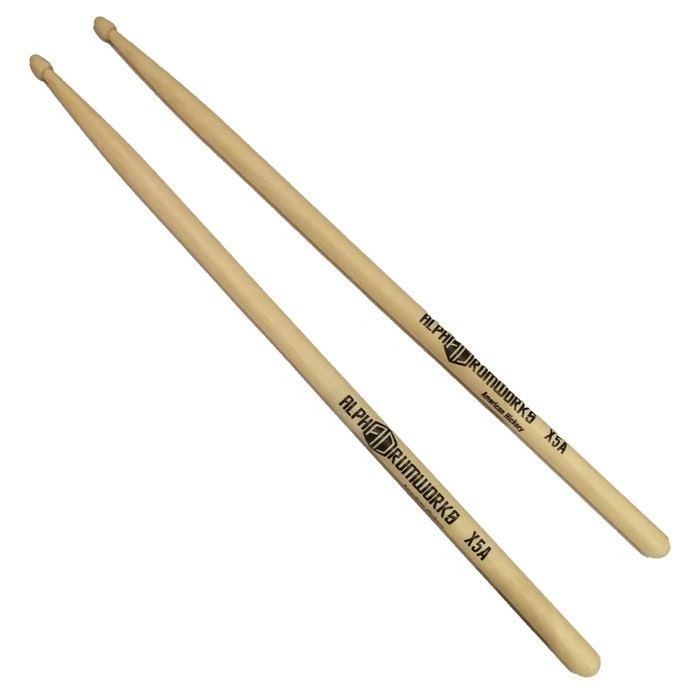 ALPHA DRUMWORKS AD-DS-X5A AMERICAN HICKORY DRUMSTICK